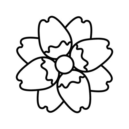 Delicate flower nature bloom image vector illustration outline. Illustration