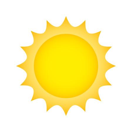Sun climate summer isolated icon vector illustration design