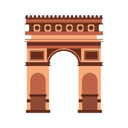 Bogen von Triumph Frankreich Denkmal Vektor-Illustration Standard-Bild - 99617672