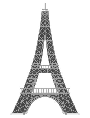 Monument landmark tower Eiffel vector illustration