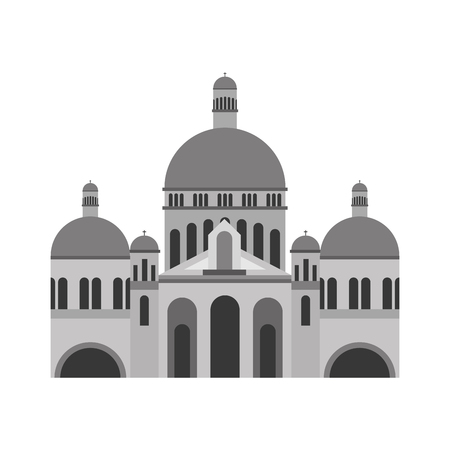 Basilica sacred heart Paris France church vector illustration