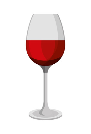 Red wine glass cup beverage image vector illustration Stock Illustratie