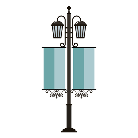street lamps vintage pennants image vector illustration 일러스트