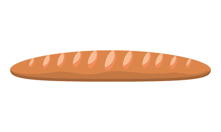 bread baguette baked food image vector illustration