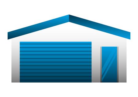 garage building facade icon vector illustration design Ilustração