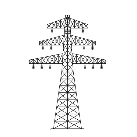 electric tower energy icon vector illustration design