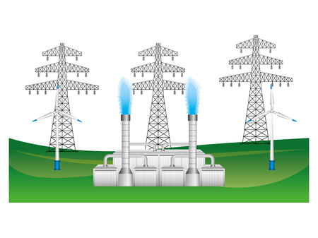 Electric towers icon illustration design