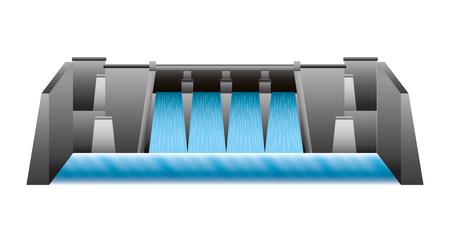 Wasserkraft Damm isoliert Symbol Vektor-Illustration , Design , Standard-Bild - 99617725