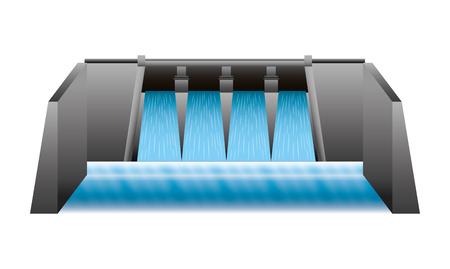Wasserkraft Damm isoliert Symbol Vektor-Illustration , Design , Standard-Bild - 99617747
