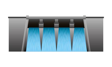 Wasserkraft Damm isoliert Symbol Vektor-Illustration , Design , Standard-Bild - 99617746