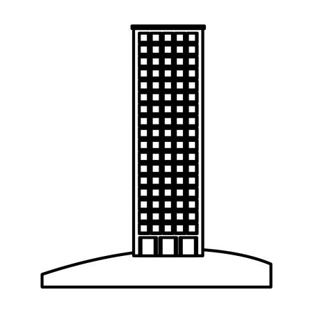 retro cityscape buildings icon vector illustration design Çizim