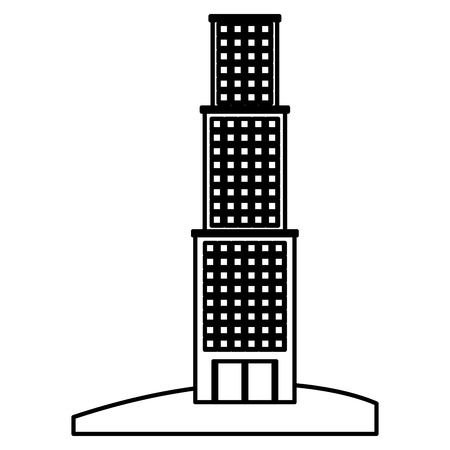 retro cityscape buildings icon vector illustration design Illusztráció