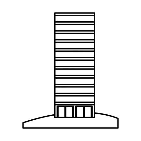 retro cityscape buildings icon vector illustration design Illustration