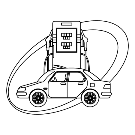 energy fuel pump with car vector illustration design Ilustracja