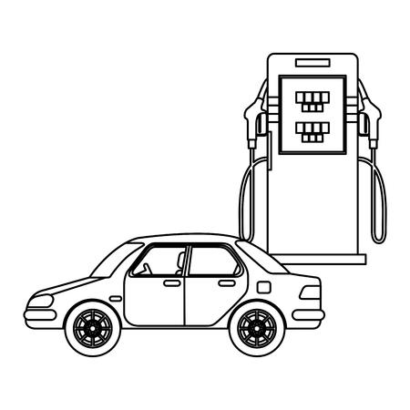 energy fuel pump with car vector illustration design  イラスト・ベクター素材
