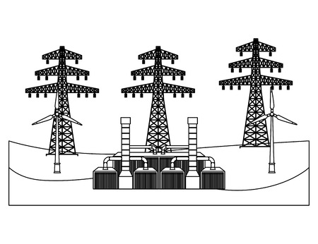 Electric towers vector illustration design Ilustracja