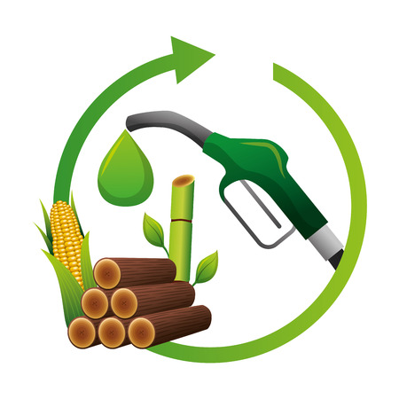 Eco friendly fuel concept vector illustration design