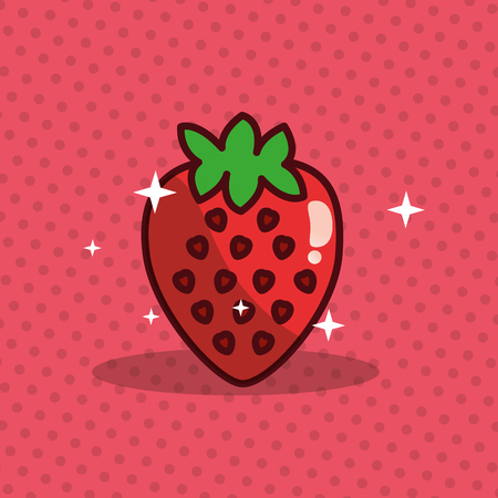 Strawberry vector illustration Çizim