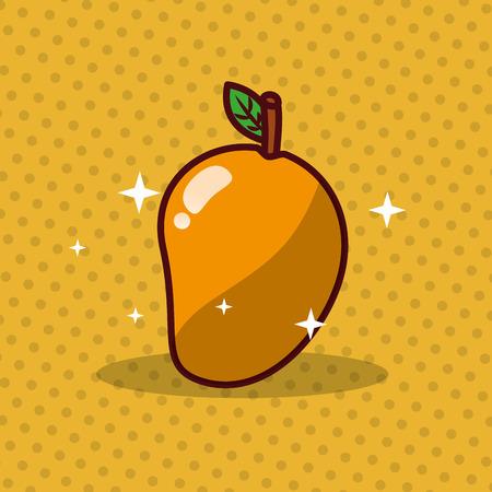 Mango fruit vector illustration Foto de archivo - 99647569