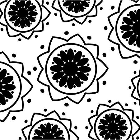 flower ethnicity decorative pattern background vector illustration design