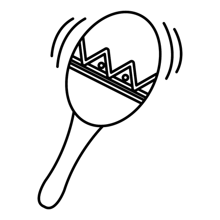 maracas tropical instrument icon vector illustration design Vectores
