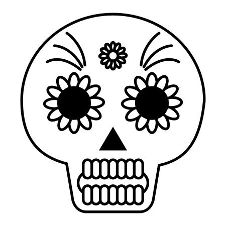 death day mask celebration vector illustration design Foto de archivo - 99637965