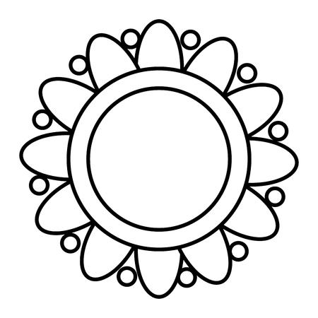 flower ethnicity decorative icon vector illustration design  イラスト・ベクター素材