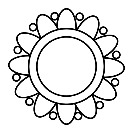 flower ethnicity decorative icon vector illustration design 일러스트