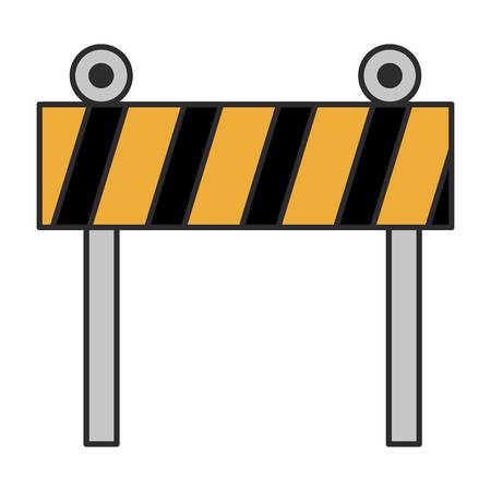 construction fence signal icon vector illustration design Banque d'images - 99642442