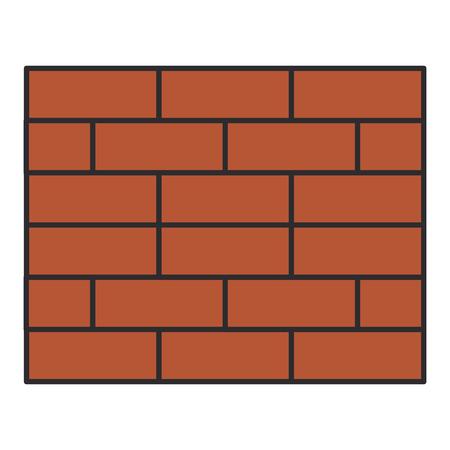 wall bricks isolated icon vector illustration design Stock Illustratie