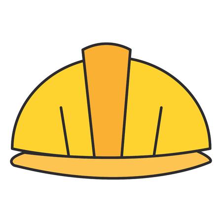 helmet construction isolated icon vector illustration design Illusztráció