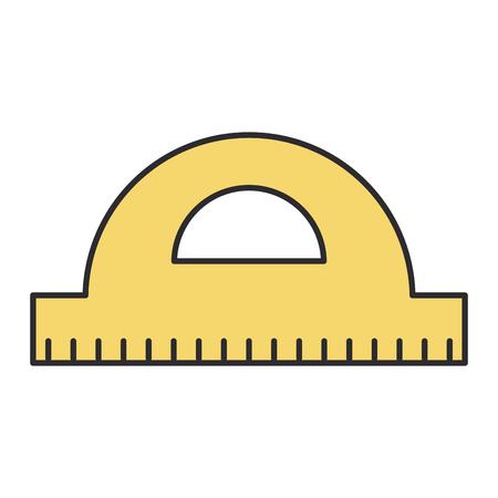 Winkelmesser Regel Schule Versorgung Vektor Illustration Design Standard-Bild - 99652569