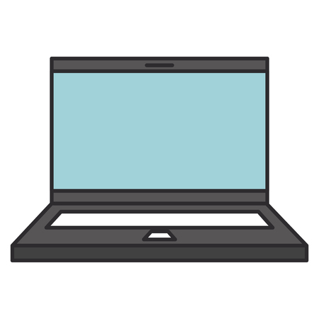 computer laptop isolated icon vector illustration design Stock Photo
