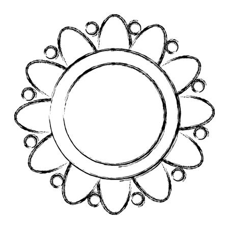 flower ethnicity decorative icon vector illustration design Stockfoto