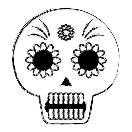 death day mask celebration vector illustration design Archivio Fotografico - 99652596