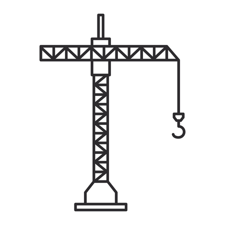 Crane tower icon 일러스트