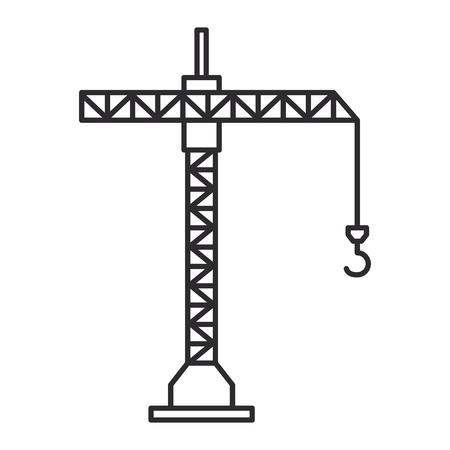 Crane tower icon Illustration