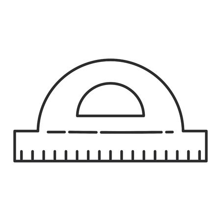 Protractor icon Illustration