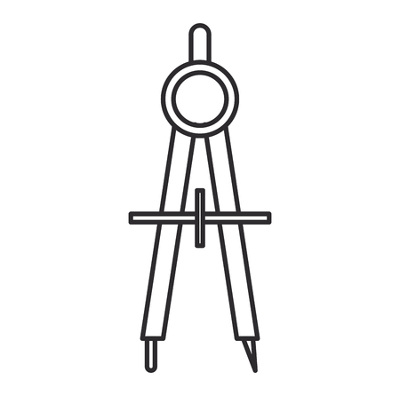compass supply isolated icon vector illustration design
