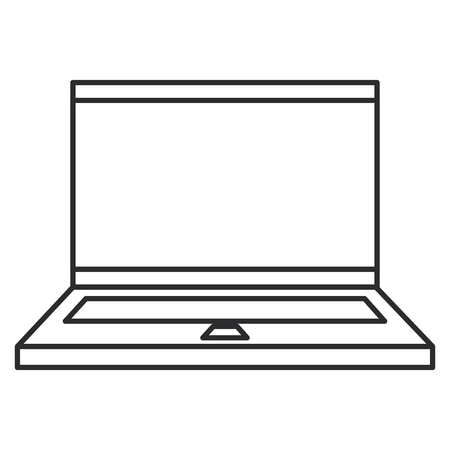 computer laptop isolated icon vector illustration design Zdjęcie Seryjne