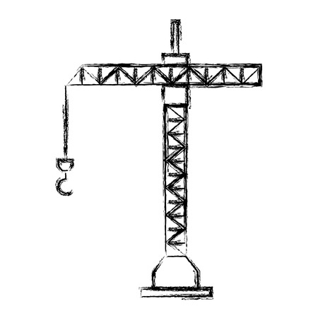 crane tower isolated icon vector illustration design Banque d'images - 99649006