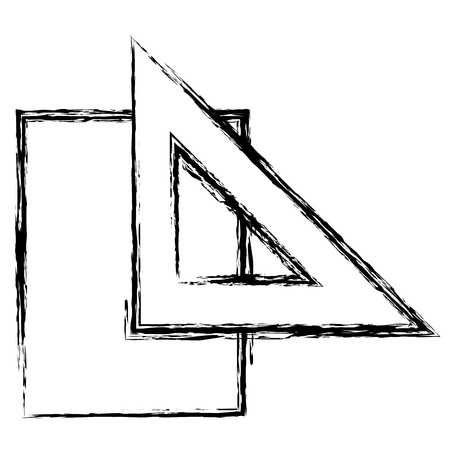 rule school supply with paper vector illustration design Illustration