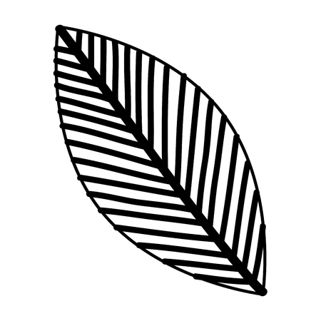 Leaf drawing monochrome icon vector illustration design