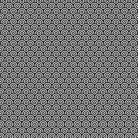 モノクロ民族パターン背景ベクトルイラストデザイン  イラスト・ベクター素材