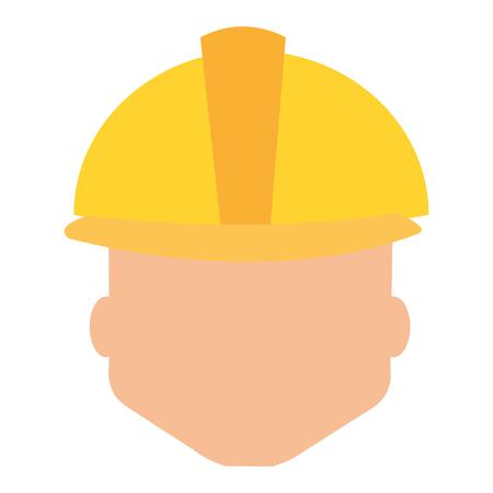 head worker with helmet avatar vector illustration design Çizim