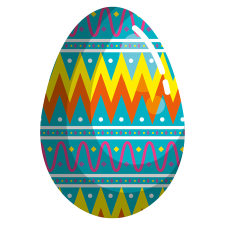 egg paint easter decoration vector illustration design