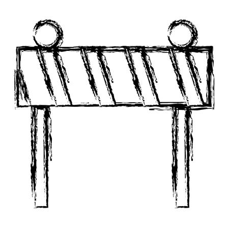 Construction fence signal icon vector illustration design Banque d'images - 99734869