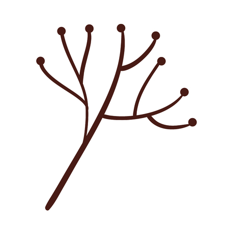 tree branch with balls decorative vector illustration design