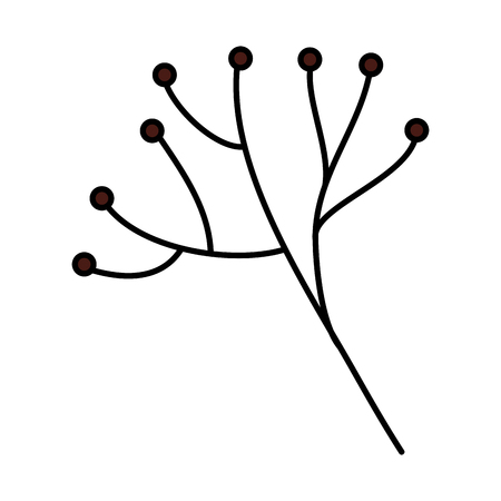 Tree branch with balls icon 向量圖像