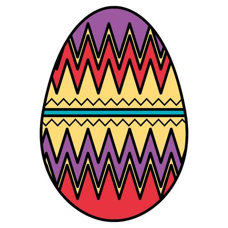 Egg paint Easter decoration vector illustration design.